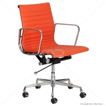 Management fice Chair Eames Reproduction Orange Buy Executive fice Chairs Milan Direct
