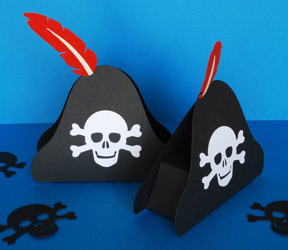 Pirate Hat Favor or Gift Box by PeadenScottDesigns on Etsy #YoYoBirthday