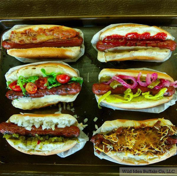 Premium Buffalo/Bison Hot Dogs - Wild Idea Buffalo
