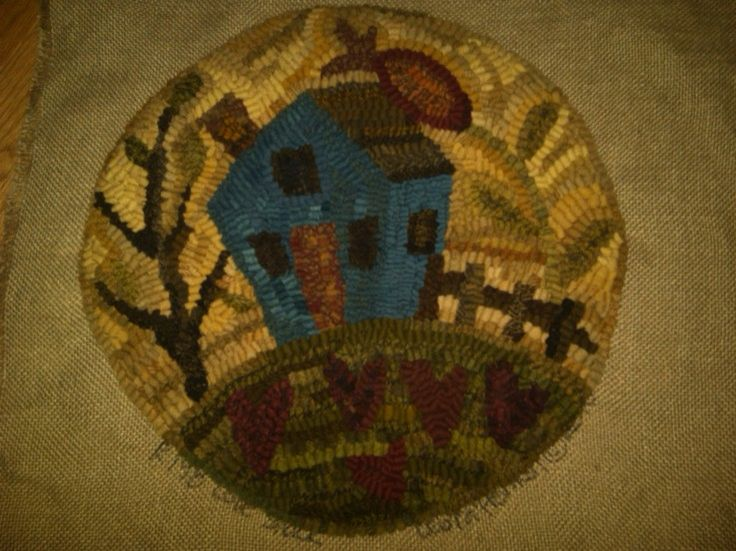 260 Best Rug Hooking Chair Pads And Rug Mugs Images On Pinterest