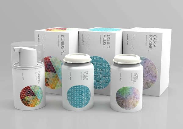 Attila Acs' Medicine Packaging is More Eye-Catching Than Clinical #pharmaceutical #branding trendhunter.com