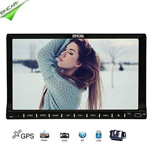 EinCar écran tactile de 7 pouces Radio voiture Automobile Récepteur Lecteur DVD Dash stéréo de voiture pour Bluetooth mains Support gratuit…