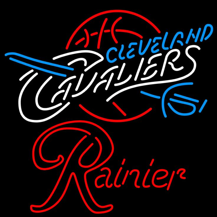 Rainier Cleveland Caveliers NBA Neon Beer Sign, Rainier with NBA | Beer with Sports Signs. Makes a great gift. High impact, eye catching, real glass tube neon sign. In stock. Ships in 5 days or less. Brand New Indoor Neon Sign. Neon Tube thickness is 9MM. All Neon Signs have 1 year warranty and 0% breakage guarantee.