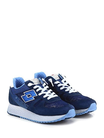 LOTTO LEGGENDA - Sneakers - Uomo - Sneaker in camoscio e tessuto lavorato con suola in gomma. Tacco 30, platform 15 con battuta 15. - BLU - € 120.00