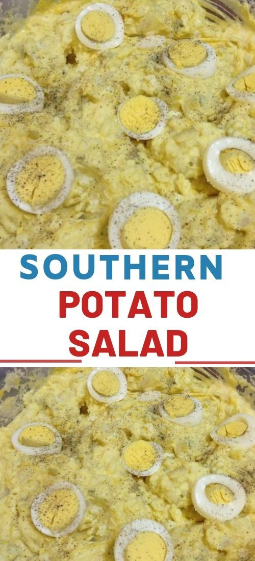 Southern Potato Salad is super creamy with a blend of mayonnaise and mustard, ha…
