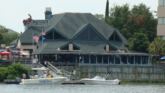 Charleston Crabhouse on James Island.  Family owned for over 20 years.  Seafood fresh from the docks.