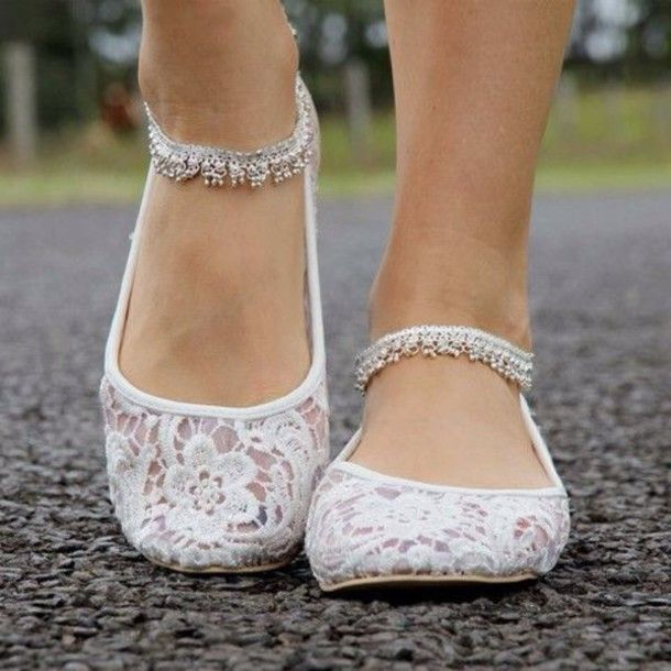 Cute Embellished Flats Will Dress Up Any Outfitnice For A Holiday Party Bride Shoes FlatsBallet WeddingFlat