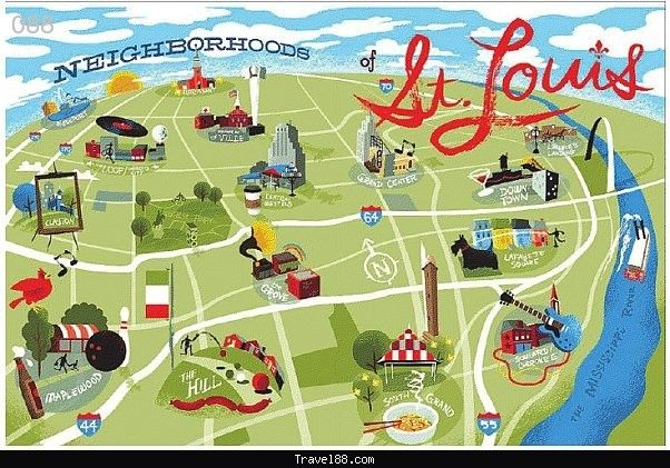 St. Louis Map Tourist Attractions - http://travel088.com/st-louis-map-tourist-attractions/