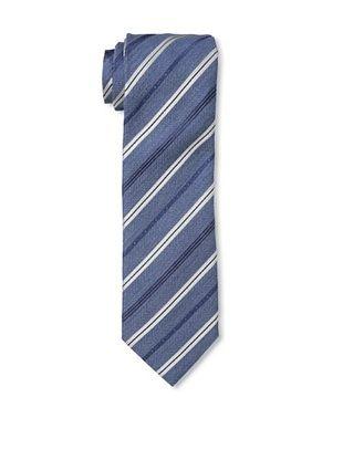 Moschino Men's Striped Tie, Blue