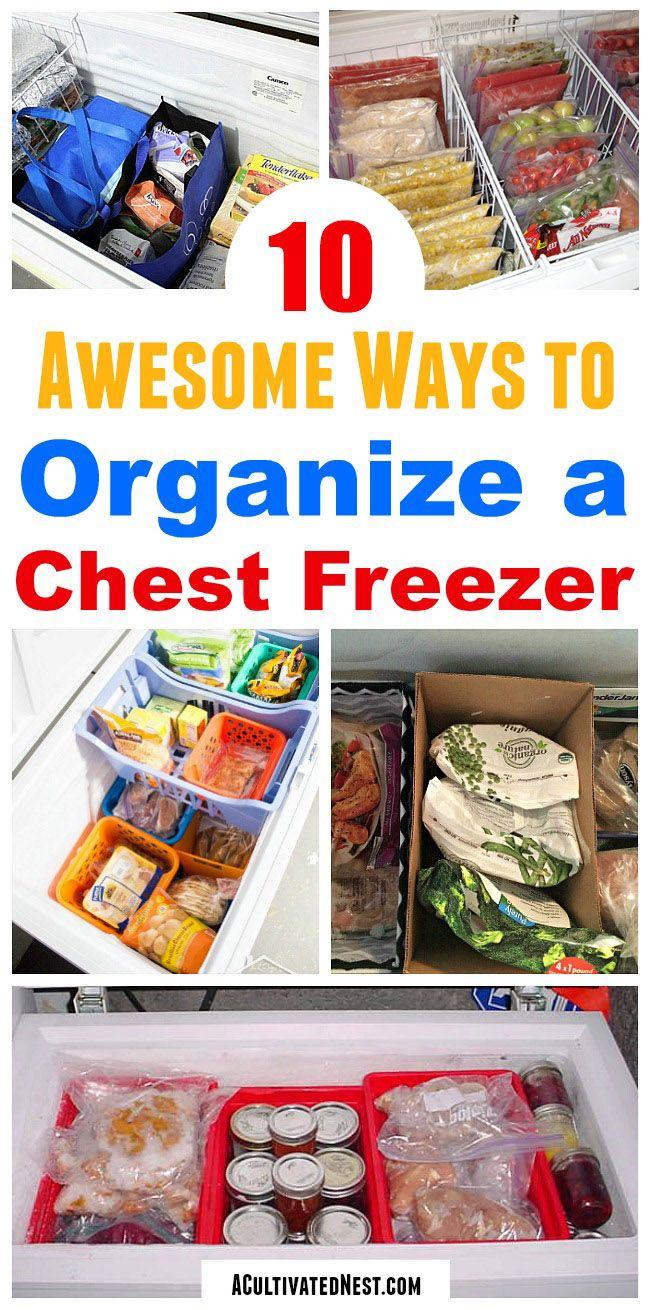 Ideas For Organizing A Chest Freezer Kitchen Organization Chest