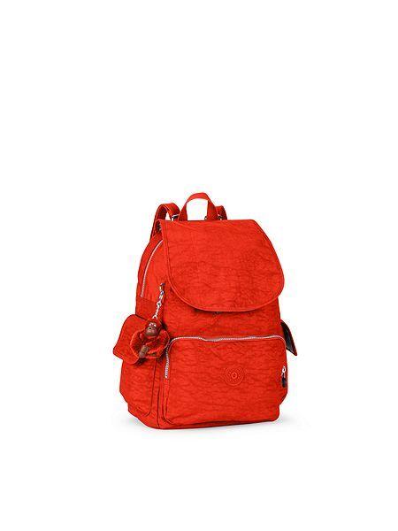 kipling orange City pack backpack