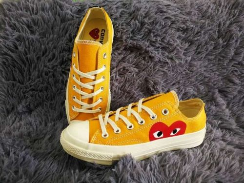 CDG PLAY x Converse 1970s Low Shoes Yellow Unisex For Sale #converse #shoes