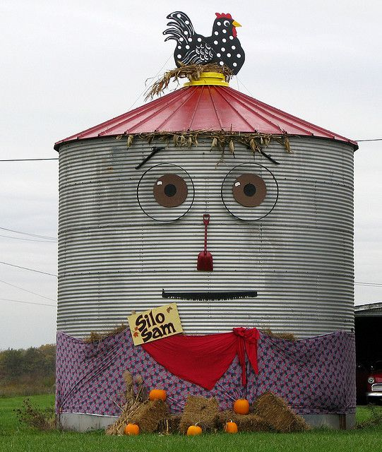 Silo Sam | Flickr - Photo Sharing!  World's first farm silo, 1873, in Spring Grove, IL, just north of Chicago