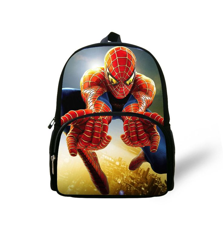 "12"" new arrival 2017 cartoon super man bags children school bags,stylish printing book bags kids,small shoulder spiderman bags"