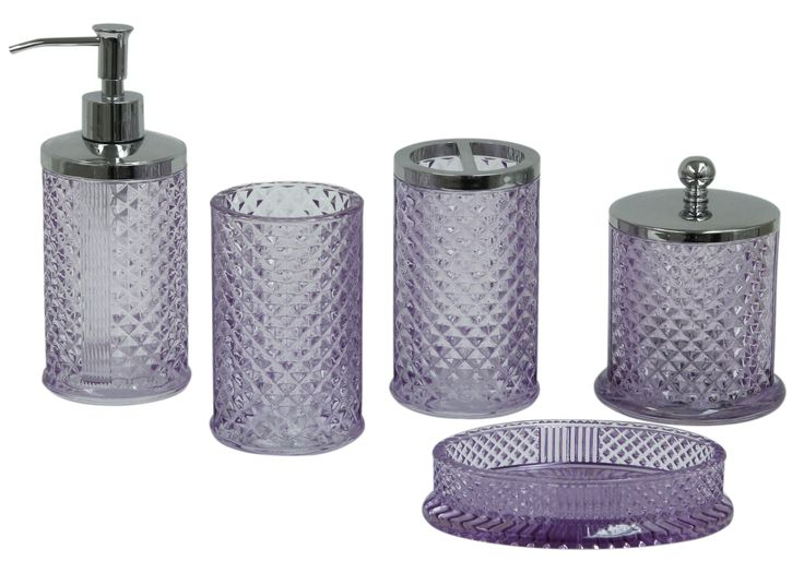 Bath accessories from Jessica Simpson Bath Collection.