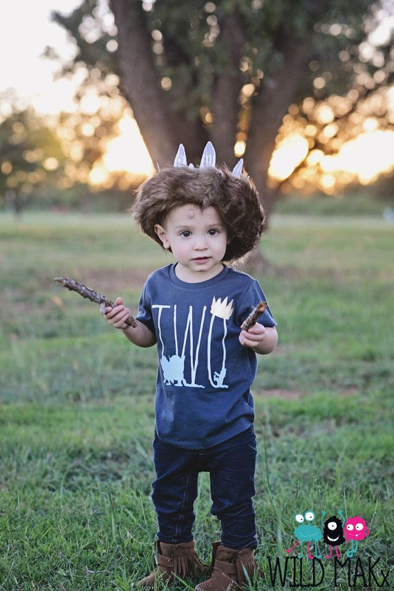 SO CUTE! Where The Wild Things Are Inspired Birthday Shirt in Charcoal Gray - Customize for age of choice on Etsy, $25.00