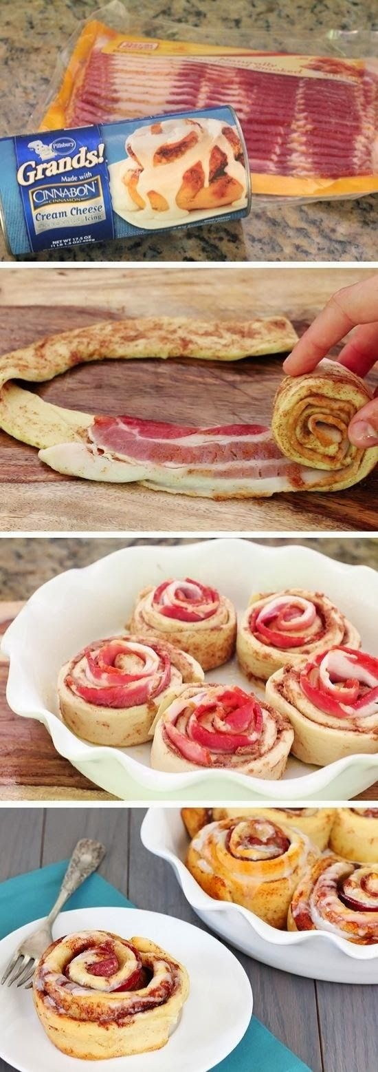 Bacon Cinnamon Rolls Recipe.