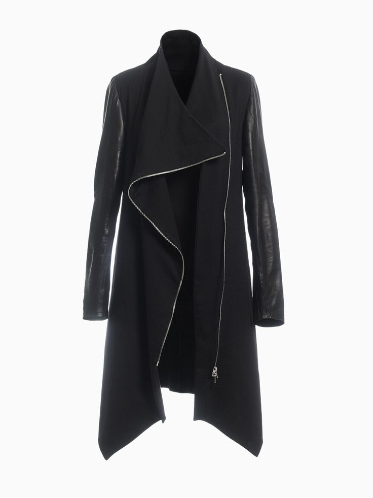 Long Jacket With Leather Sleeves • HANA ZARUBOVA