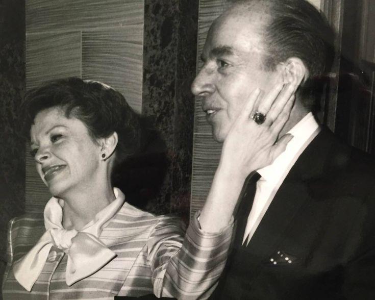 Judy Garland and Vincente Minnelli at Liza Minnelli's wedding to Peter Allen