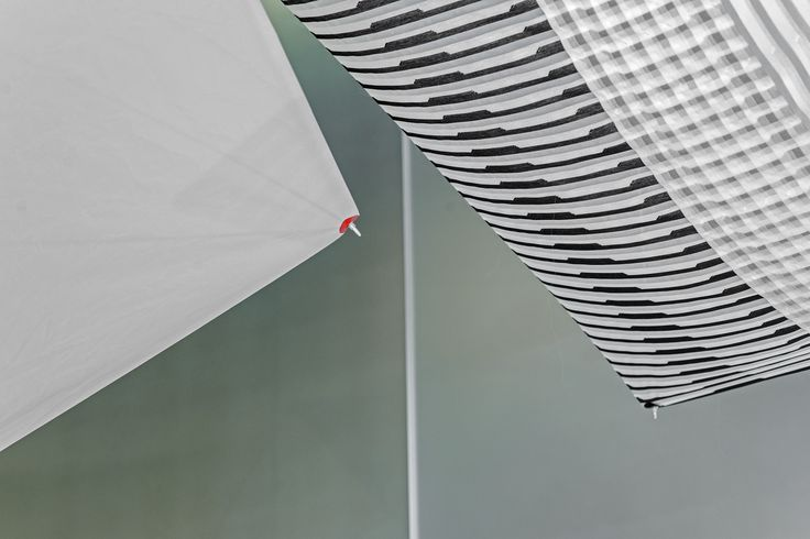 The kites from the playful SHIELDS installation by Studio Wieki Somers