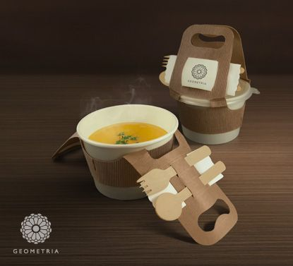 TRIA : Sustainable Food Packaging – Pyramid takeaway box