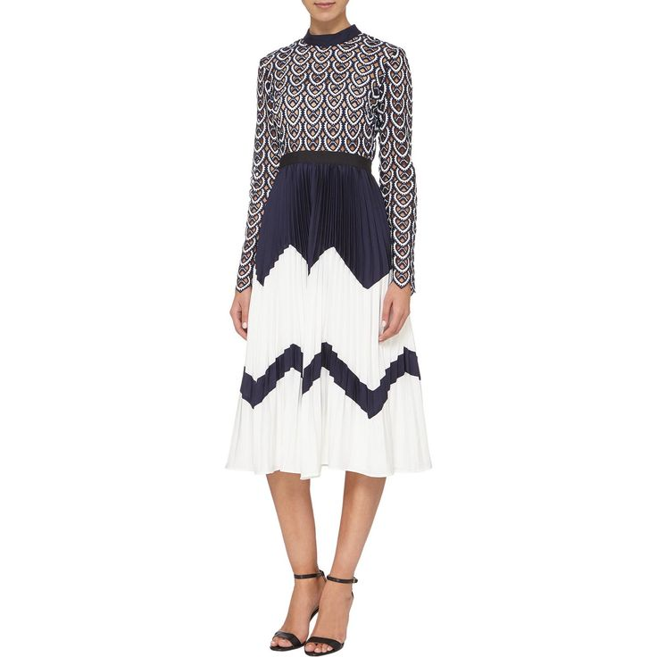 Add a new dimension to your #dress collection this season with this stylish  @_selfportrait_ Crochet Top Contrast #dress from @brownthomas 😍😍