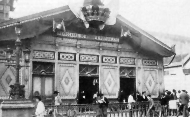 Estación del tren Bilbao-Portugalete 1888, hoy desaparecida.