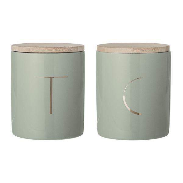Sage Green Kitchen Storage Jars: Sage Green Tea And Coffee Jars In 2019