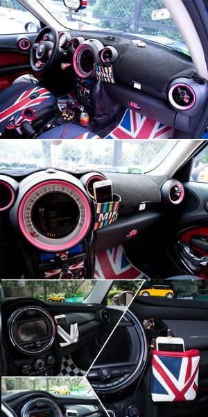 British Jack Flag Car Vent Cell Phone Holder Sunglasses Pouch Bag