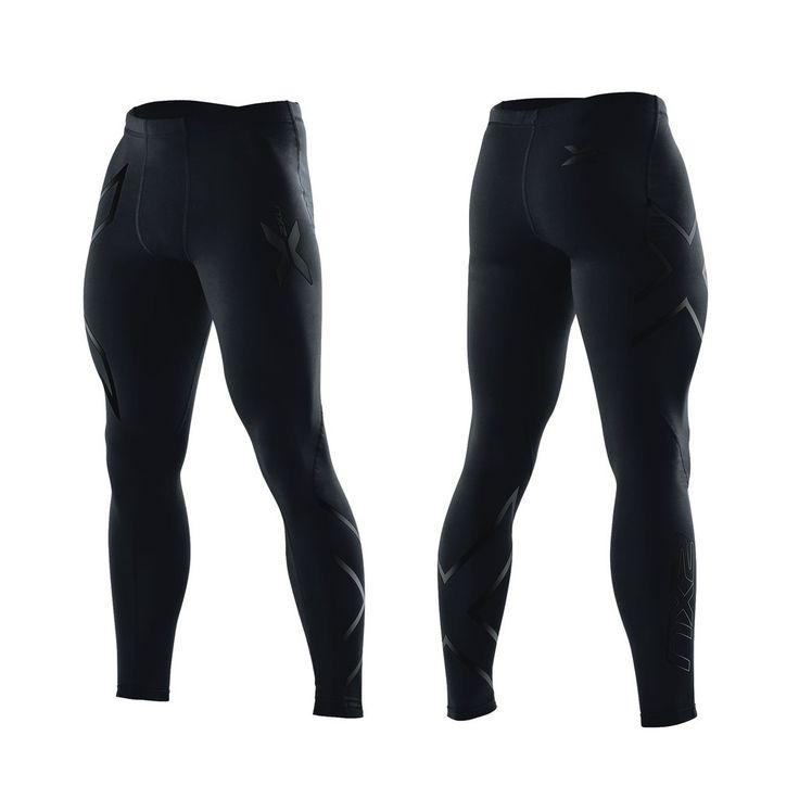 2XU Men's Compression Tights Black/Black logo - Treningsklær - Herre - Produkter