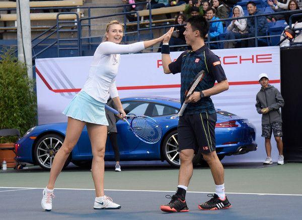 Maria Sharapova Photos - Maria Sharapova and Friends, Presented by Porsche - w/Kei Nishikori