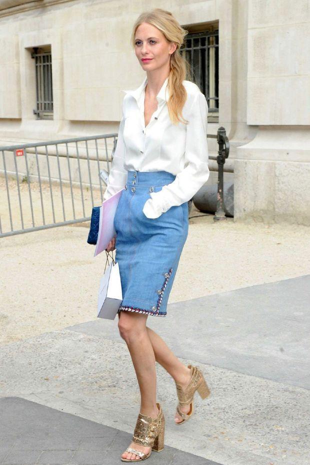Para imitar, este falda vaquera de Chanel