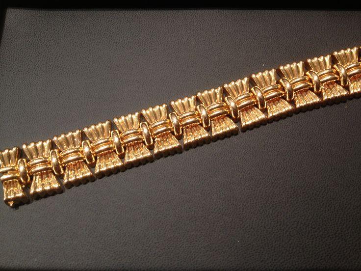 Retro 1950s 18carat gold bracelet. $10,500