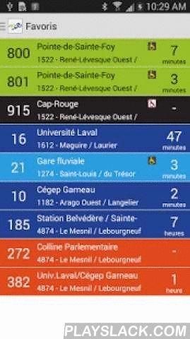 RTC Mobile  Android App - playslack.com ,  ** Application officielle du Réseau de transport de la Capitale ** RTC Mobile permet de consulter rapidement les horaires d'autobus du Réseau de transport de la Capitale (RTC), le réseau d'autobus de la ville de Québec. Caractéristiques: - Accès hors-ligne aux horaires d'autobus de tous les parcours - Plan des trajets - Carte des parcours (Google Maps) - Géo-localisation : Affichage des arrêts les plus proches sur une carte (Google Maps) - Recherche…