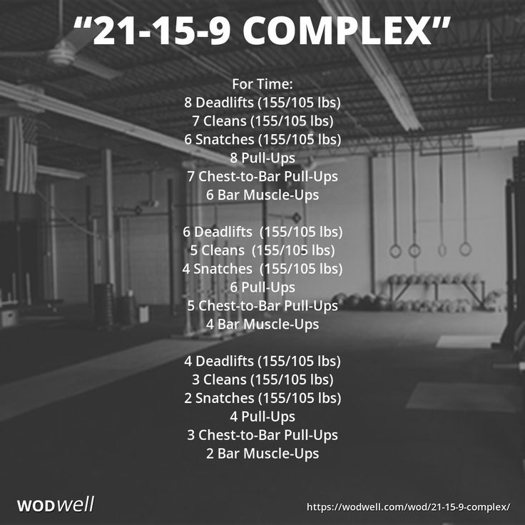 """21-15-9 Complex"" WOD - For Time: 8 Deadlifts (155/105 lbs)"