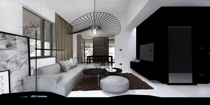 Apartment in Aleksandrow Lodzki near Lodz / Projekt wykonawczy aranżacji wnętrz apartamentu w Aleksandrowie Łódzkim.