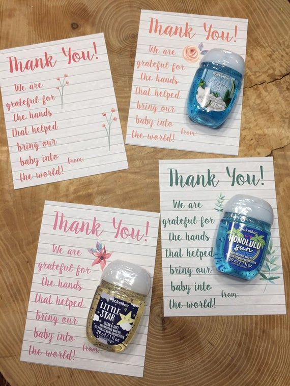 Labor And Delivery Nurse Doctor Appreciation Thank You Cards For