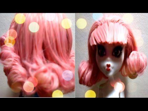 ▶ Как завить волосы кукле Monster High/ООАК: 4 часть (А.С.Кьюпид) - YouTube   Куклы   Постила
