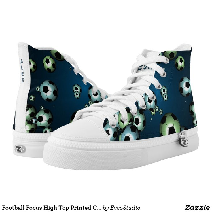 Football Focus High Top Printed Casual Shoes