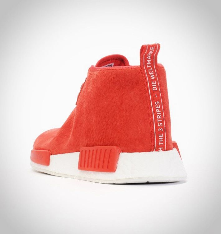 sélection premium 9bf63 d3838 S79147 - Adidas NMD Chukka Rouge Suede Rouge Rouge Blanche ...