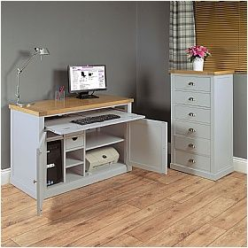 Cambridge Solid Oak Computer Desk Hideaway £387 - Computer Desks