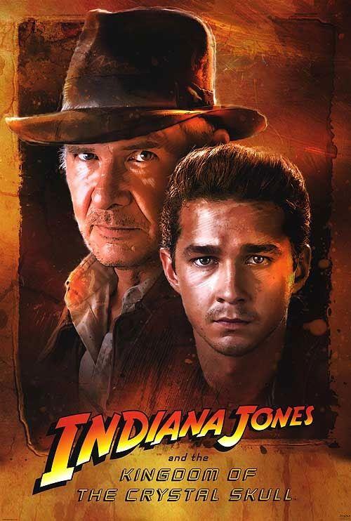Постер к фильму «Indiana Jones and the Kingdom of the Crystal Skull / Индиана Джонс и Королевство хрустального черепа (2008)» смотреть онлайн
