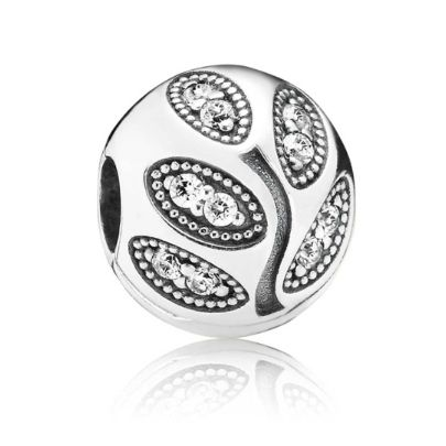 Pandora Silver Leaves Ball Clip 791416CZ. From the PANDORA Autumn 2014 Collection introduces the Pandora Silver Leaves Ball Clip. The charm is elegantly designed and crafted from quality sterling silver. An excellent clip to add to your bracelet.