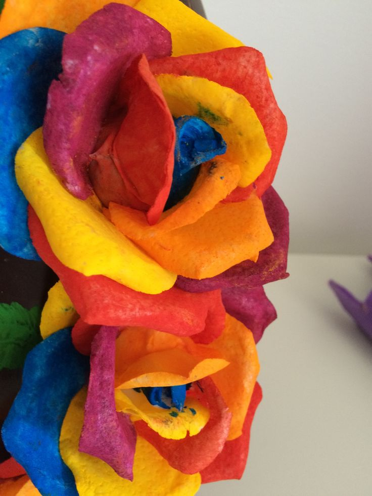 Rose arcobaleno in wafer paper