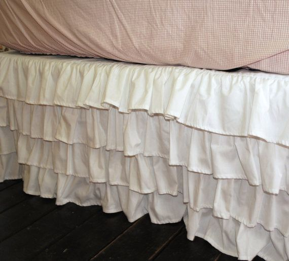 White Ruffle Bed Skirt - Twin or Full