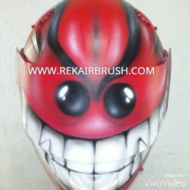 Rekairbrush Custom Airbrushed Motorcycle Helmet 509