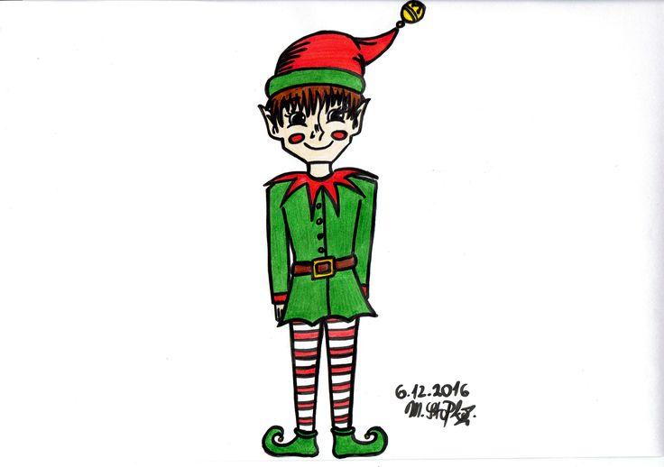 IG: @maggie_creates_  cute christmas elf drawing