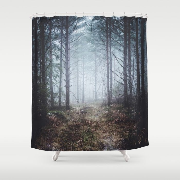 No more roads Shower Curtain by HappyMelvin. #forests #nature #photo #homedécor #showercurtain