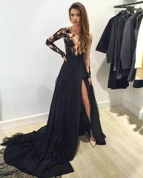 Sexy Black Prom Dress , Prom Dresses, Graduation Party Dresses, Formal Dress For Teens, BPD0106