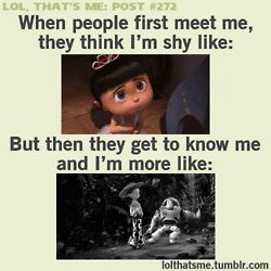 EXACTLY!!! Everyone in my Girl Scout troop says I'm shy, but my bffs and my family are telling me I'm too loud! What's up with that?